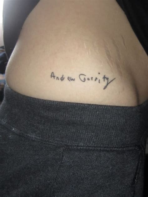 quotes tattoos adrew garrity pictures tattoomagz