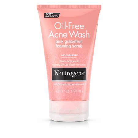 Acnes Facewash neutrogena free pink grapefruit acne wash scrub