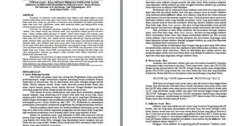 makalah asam format contoh makalah penelitian kimia contoh makalah kita