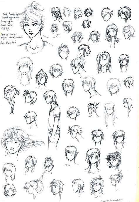 anime hairstyles female tutorial anime hair styles by misspinks on deviantart