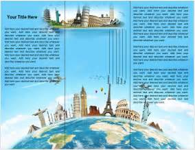 brochure templates for microsoft word 13 travel destination brochure template images travel