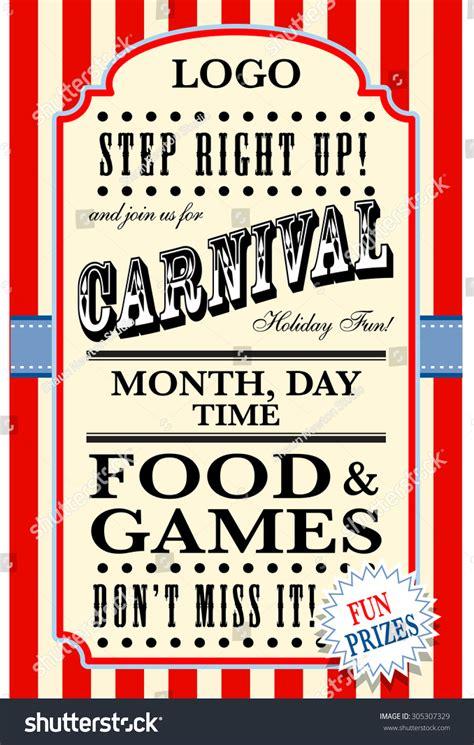 carnival flyer template stock vector 305307329 shutterstock