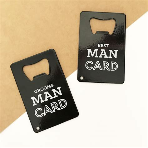 Credit Card Bottle Opener Bachelor Party Gift   Groomsman