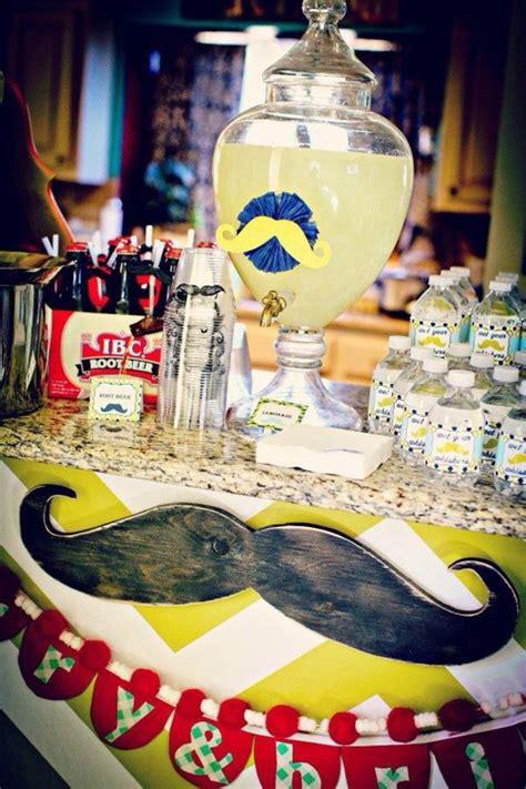 mustache theme decorations kara s ideas 1st birthday boy mustache