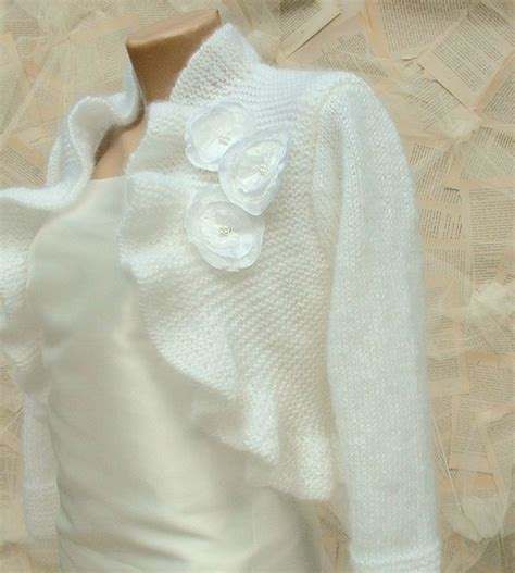 wedding bolero knitting pattern wedding bolero shrug knitted knitting ruffle bridal
