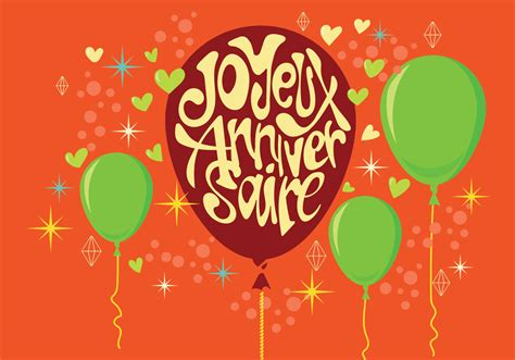 Carte joyeux anniversaire with balloons and stars download free vector art stock graphics