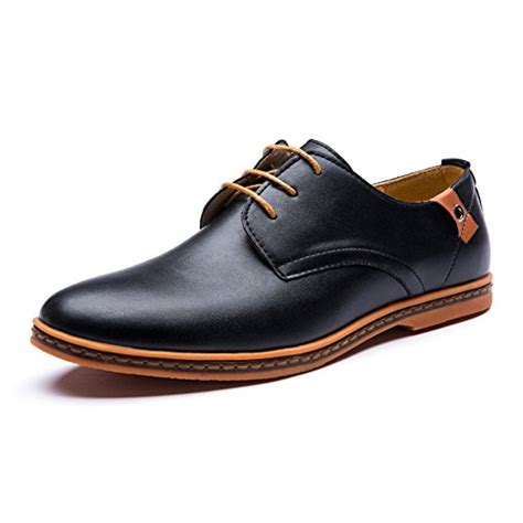 most comfortable brogues seakee men s leisure lace up flat oxford dress shoes
