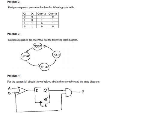 text diagram generator solved design a sequence generator that has the following