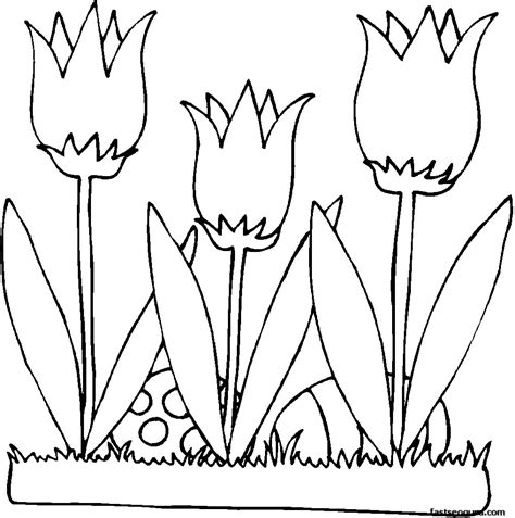 free printable easter flowers printable easter eggs and flowers lilies coloring page for