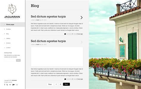 theme blog joomla jaguarian responsive joomla template by templaza