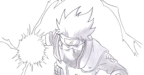 imagenes para dibujar kakashi dibujos anime chidori de kakashi kakashi s chidori