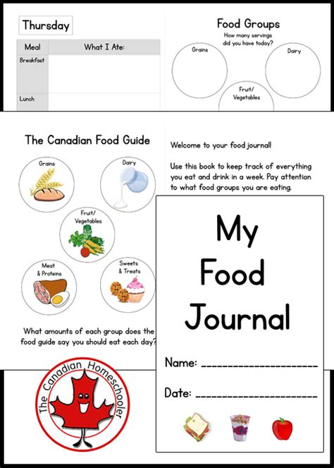printable food diary for toddlers food journal for kids printable