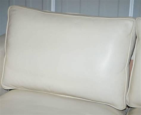 feather cushions for sofas ralph lauren graham cream leather sofa fully restored