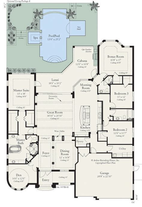 houzz homes floor plans coquina 1177 floor plan ta by arthur rutenberg homes