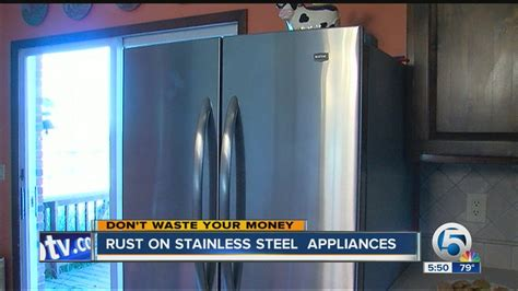 will stainless steel rust rust on stainless steel appliances youtube