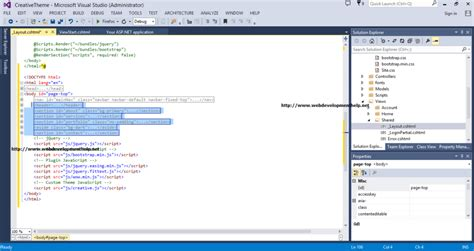 change layout of view mvc step by step using bootstrap 3 with asp net mvc 5