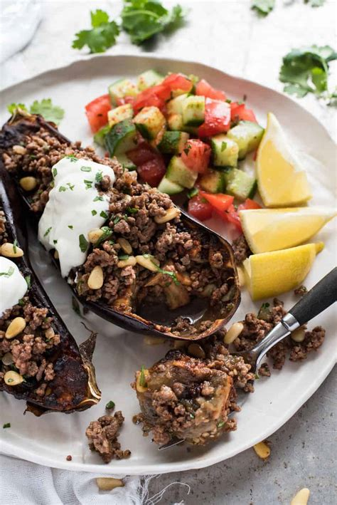 differnet ways to make ground beef moroccan baked eggplant with beef recipetin eats