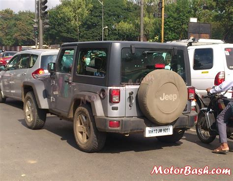 jeep india upcoming 2 door 4 door jeep wrangler spied in india