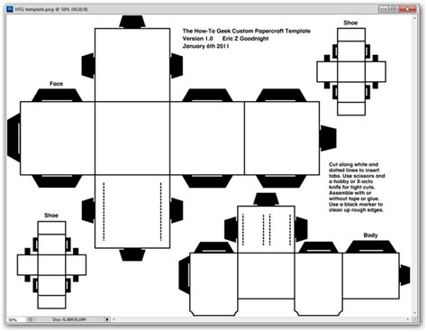 Simple Papercraft Templates - htg projects how to create your own custom papercraft
