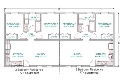 duplex layout simple small house floor plans modular duplex tlc