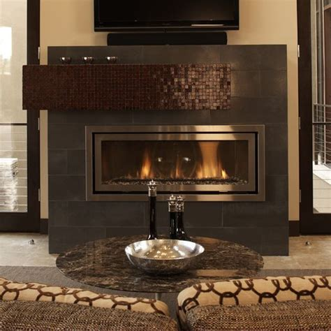 Metallic Tile Fireplace by 24 Best Images About Fireplace Surround Ideas On