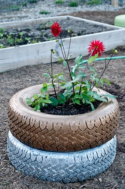 Tire Planters Garden by 535 Best Images About Llantas Exterior On
