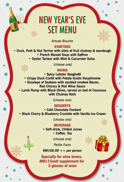 luckee new year menu new year s set menu at mezze bistro malaysian foodie