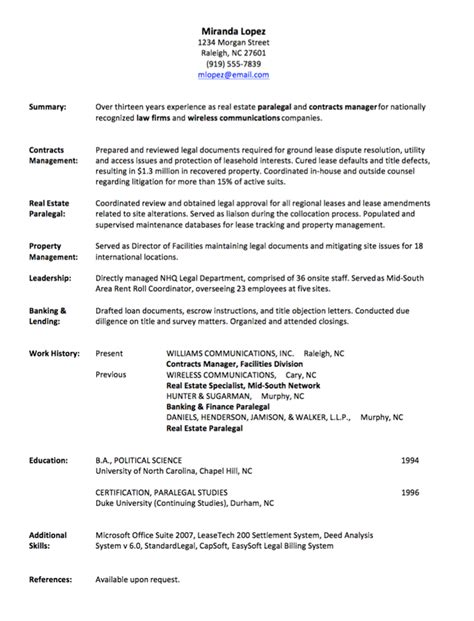 Work History Resume Resume Writing Employment History Page 1