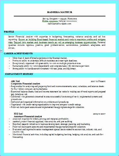 Excellent Resume Exle by 6 Excellent Cv Template Exceltemplates Exceltemplates