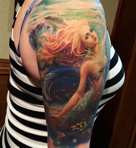 pinterest tattoo realistic pretty mermaid http tattooideas247 com mermaid sleeve