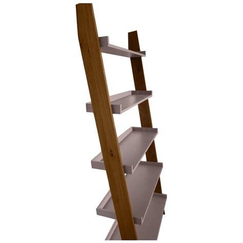 modern retro walnut and grey ladder shelf from fusion living