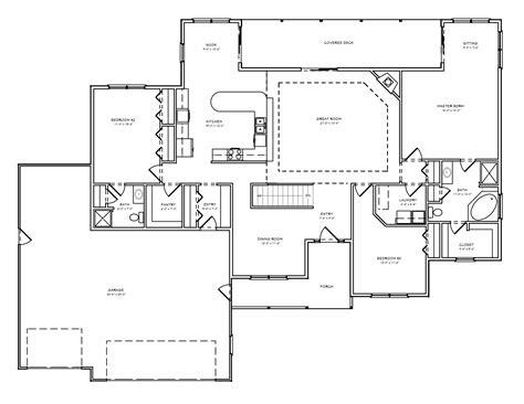greatroom ranch house plan single level great room ranch