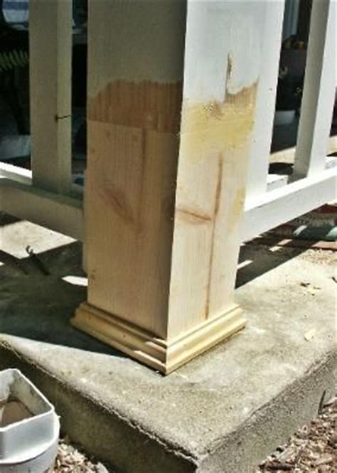 repair  rotting wood porch post   home