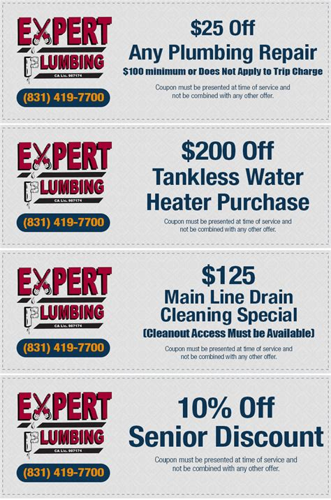 Plumbing Consultant by Santa Plumbing Coupons Specials