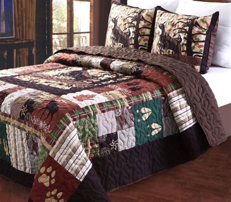 lodge comforter total fab rustic lodge log cabin themed bedding sets