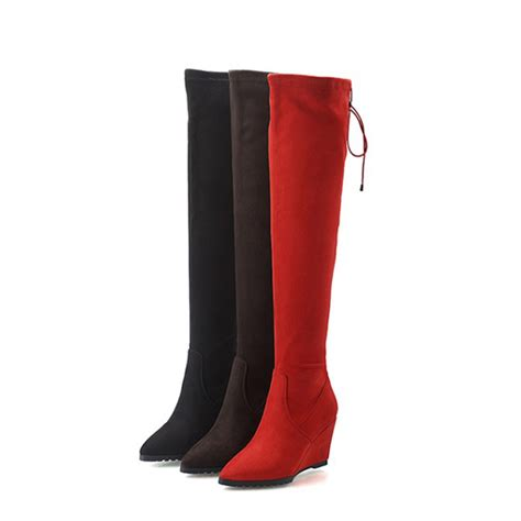 get cheap wide thigh high boots aliexpress