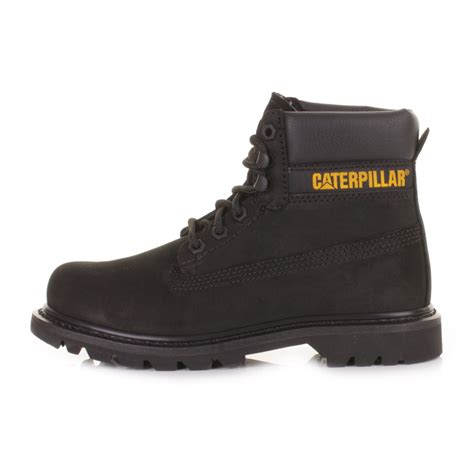 Caterpillar S Black womens cat colorado black nubuck caterpillar leather ankle