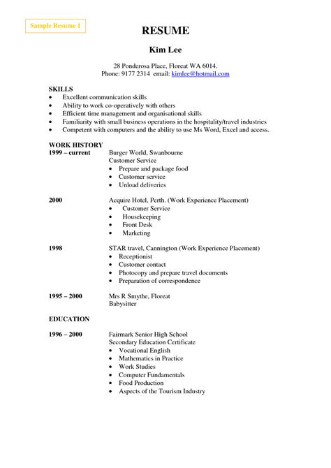 House Cleaning Resume Exles Exles Of Resumes