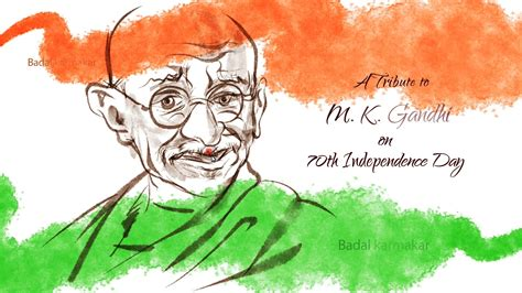 drawing themes for independence day independence day sketch mk gandhi by badal youtube