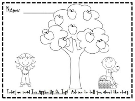 coloring pages ten apples up on top kindergarten at heart ten apples up on top and freebie