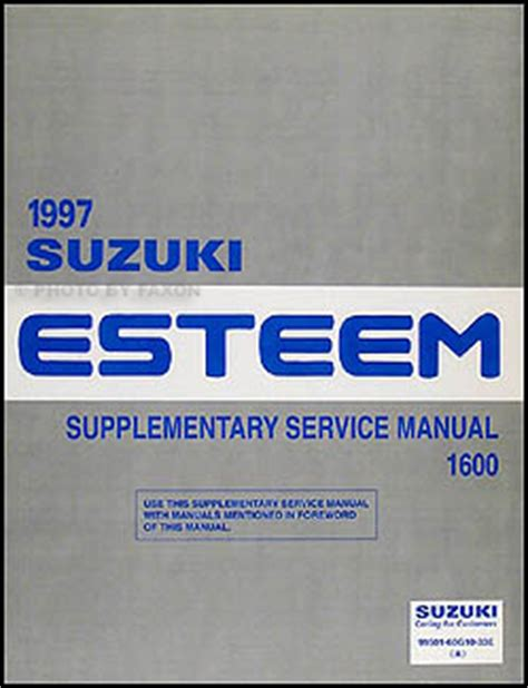 1996 suzuki esteem repair shop manual supplement original 1997 suzuki esteem repair shop manual supplement original