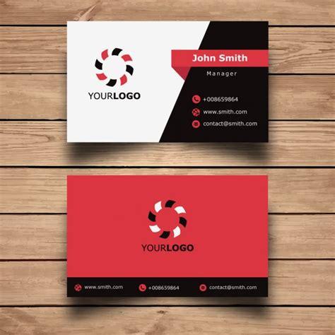 Id Card Template Inkscape by シンプルな赤名刺デザイン 無料ベクター Freepic 名刺デザイン ベクター 名刺