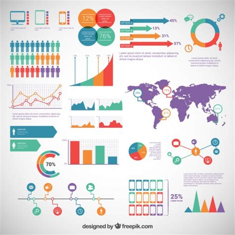 infographic design elements in vector infographic elements pack vector free download