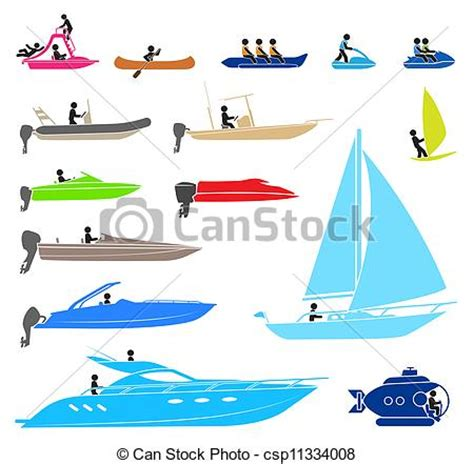 name all types of boats stock illustration of pictograms representing people on