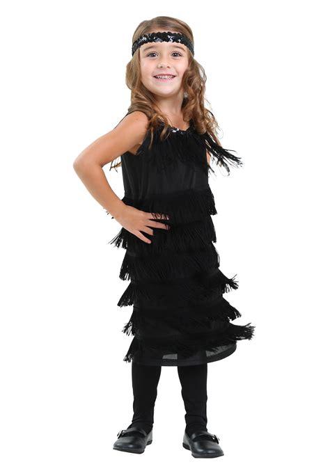 Costume Hallowen Black 1 toddler black flapper dress