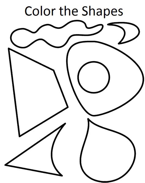 basic shapes coloring pages coloring home