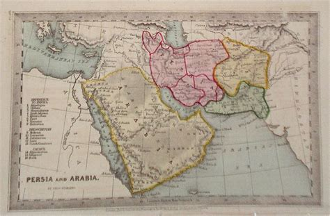middle east map numbered antique maps of the middle east