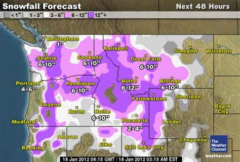 northwest us weather map winter warning for pacific northwest major snowfall