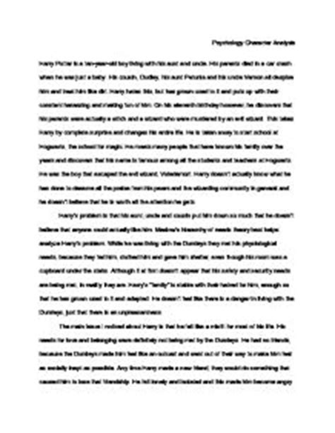Harry Potter Analysis Essay by Psychology Character Analysis Harry Potter Gcse Drama Marked By Teachers
