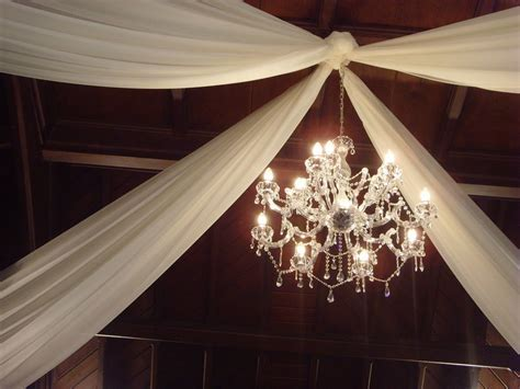 Decorating the ceiling with fabric   Wedding Decorator
